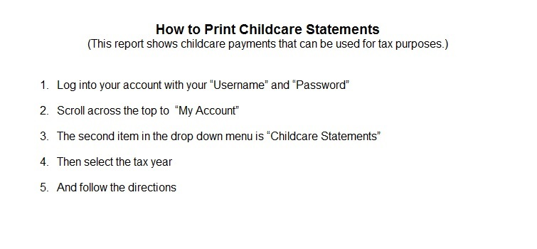 Childcare Statements